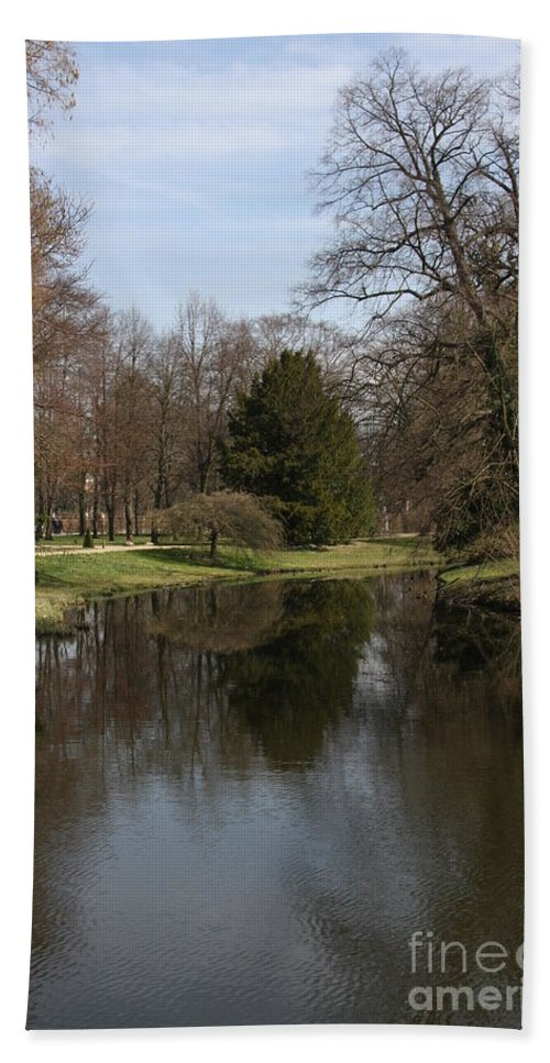 Pond Hand Towel featuring the photograph Pond In The Park by Christiane Schulze Art And Photography