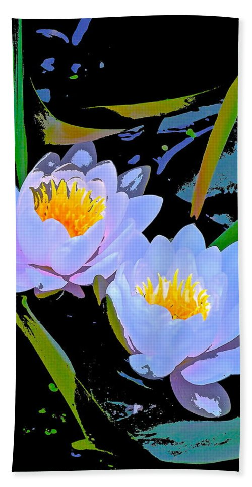 Floral Hand Towel featuring the photograph Pond Lily 17 by Pamela Cooper