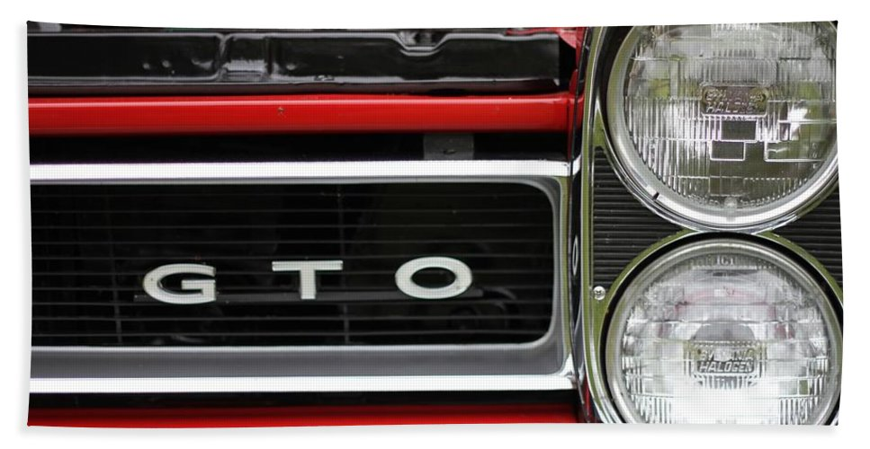 Pontiac Gto Front Hand Towel featuring the photograph Pontiac Gto Front by Dan Sproul