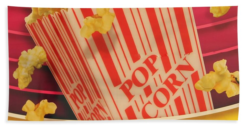 Popcorn Hand Towel featuring the photograph Pop Corn by Cynthia Guinn