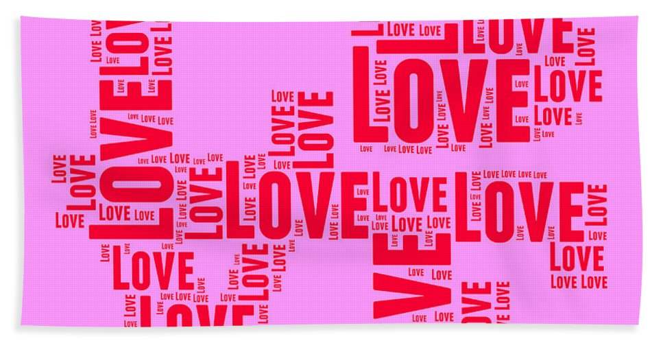 Love Bath Towel featuring the digital art Pop Love 4 by Delphimages Photo Creations