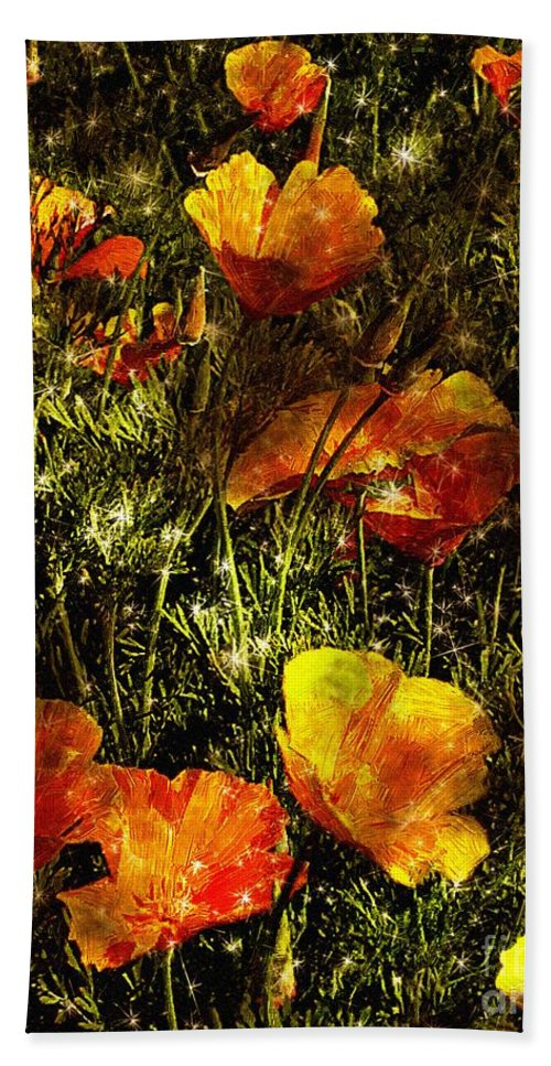 Poppies Bath Sheet featuring the painting Poppies Will Make Them Sleep by RC DeWinter