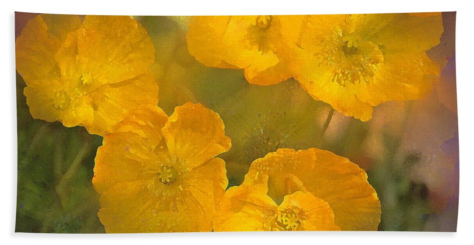 Floral Bath Sheet featuring the photograph Poppy 29 by Pamela Cooper