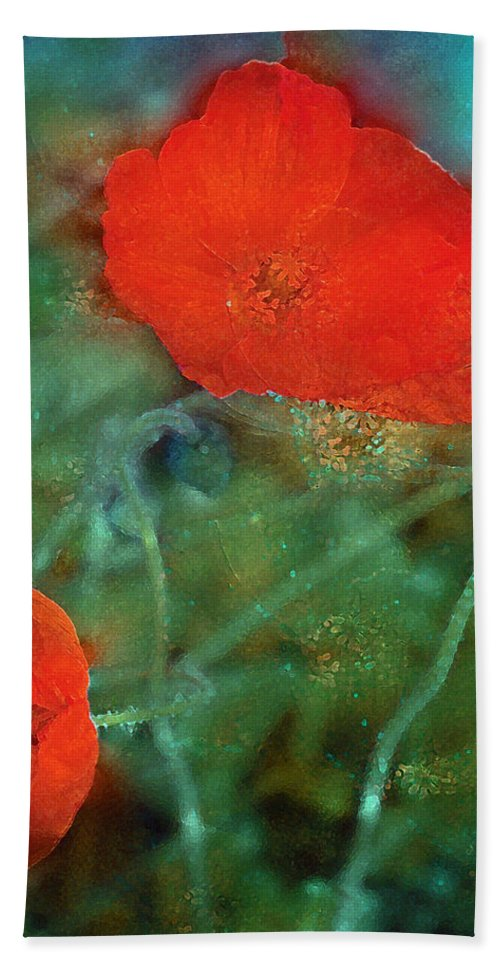 Floral Bath Sheet featuring the photograph Poppy 30 by Pamela Cooper
