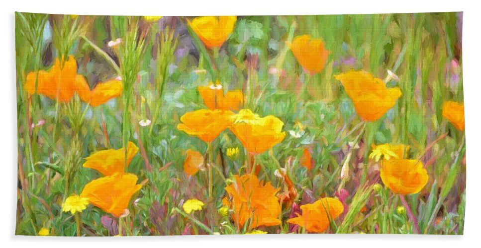 Floral Bath Sheet featuring the photograph Poppy 36 by Pamela Cooper