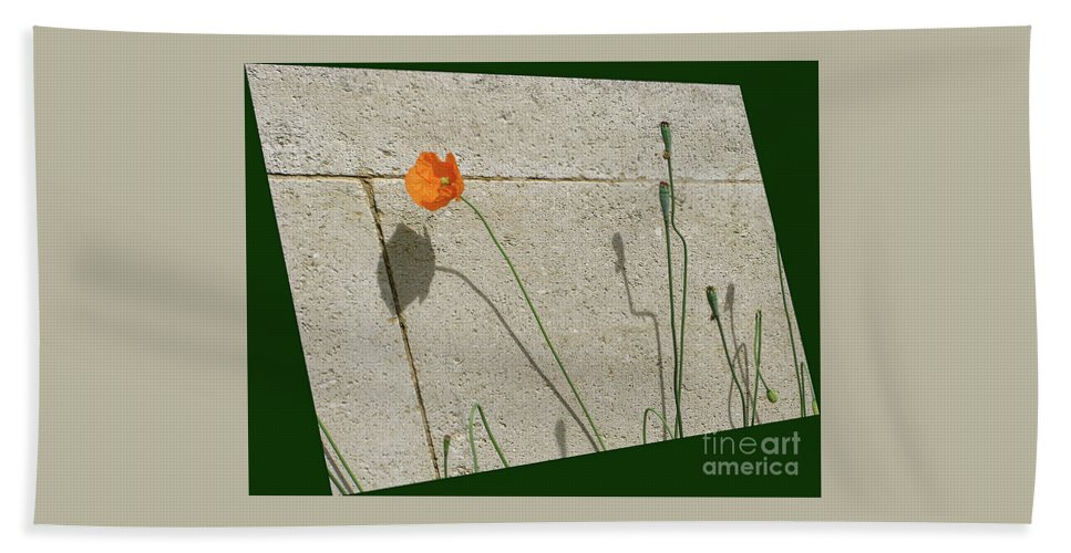 Poppy Hand Towel featuring the photograph Poppy by Ann Horn