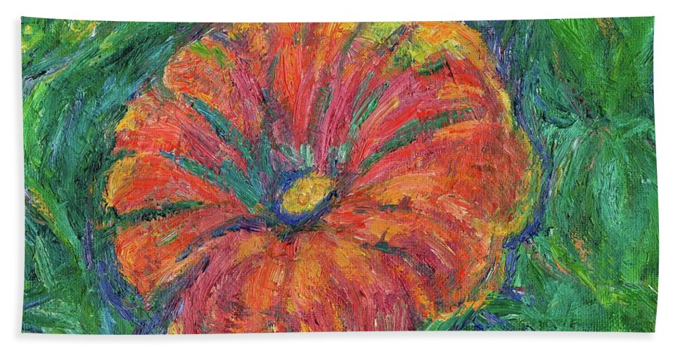 Flowers Bath Sheet featuring the painting Poppy Fun by Kendall Kessler