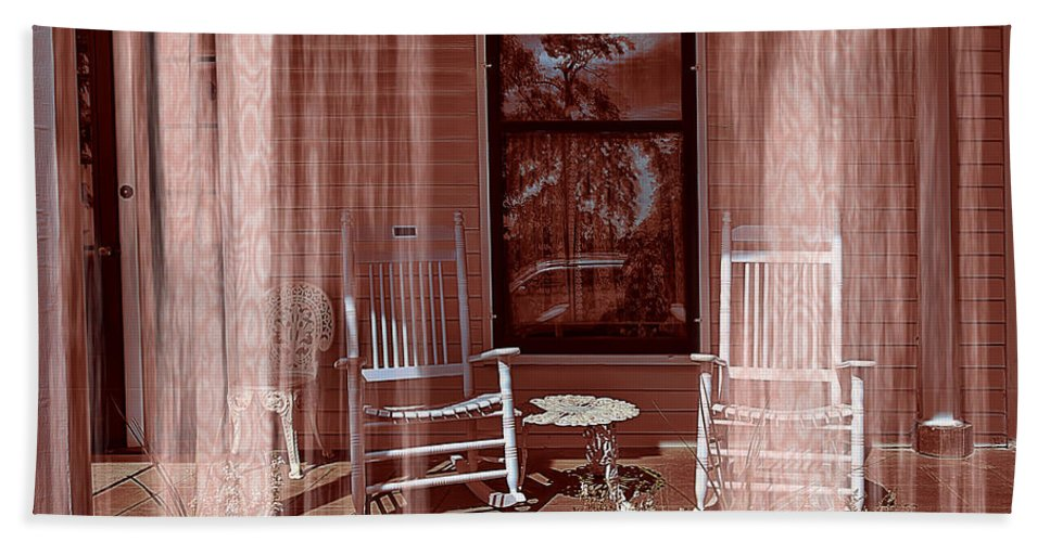 Porch - Dreaming Hand Towel featuring the photograph Porch - Dreaming by Liane Wright