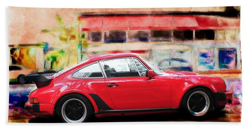 Car Bath Sheet featuring the photograph Porsche Series 01 by Carlos Diaz