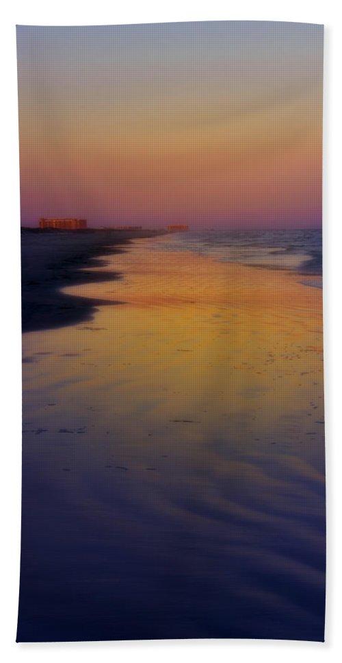 Texas Hand Towel featuring the photograph Port Aransas Sunset by Ellen Heaverlo