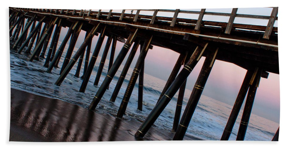 Port Hueneme Bath Sheet featuring the photograph Port Hueneme Pier Askew by John Daly