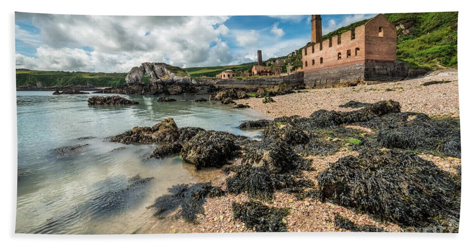 Porth Wen Brickworks Hand Towel featuring the photograph Porth Wen Brickworks by Adrian Evans