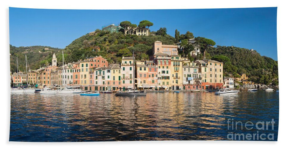 Bay Hand Towel featuring the photograph Portofino - Italy by Antonio Scarpi