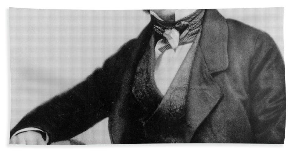 Beard Bath Sheet featuring the photograph Portrait Of Charles Darwin by English Photographer