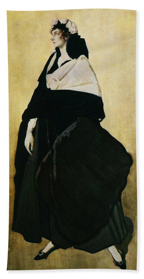 Leon Bakst Hand Towel featuring the painting Portrait Of Ida Lvovna Rubinstein by Leon Bakst