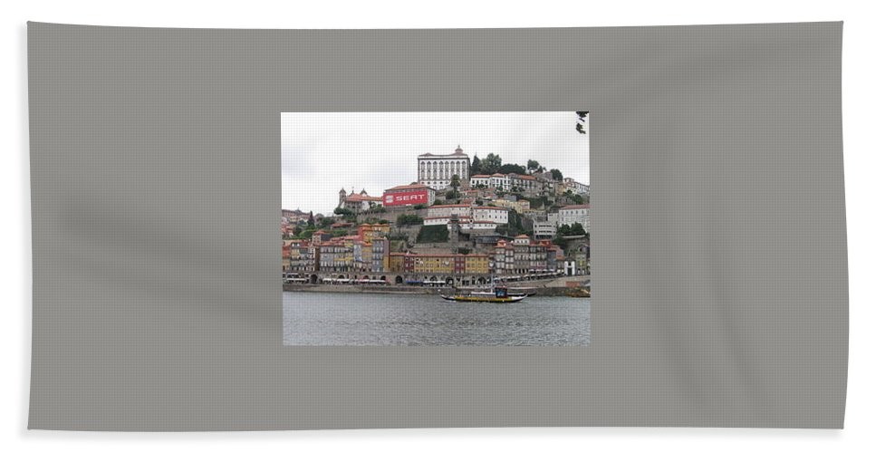 River Scence Hand Towel featuring the photograph Portugal by Kimberly Maxwell Grantier