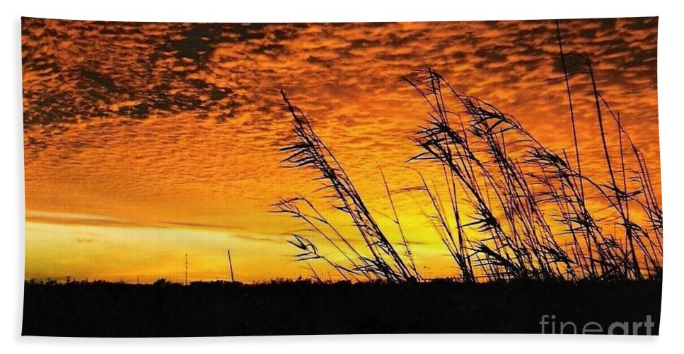 Beaumont Bath Sheet featuring the photograph Post Hurricane Rita Clouds At Dockside In Beaumont Texas Usa by Michael Hoard
