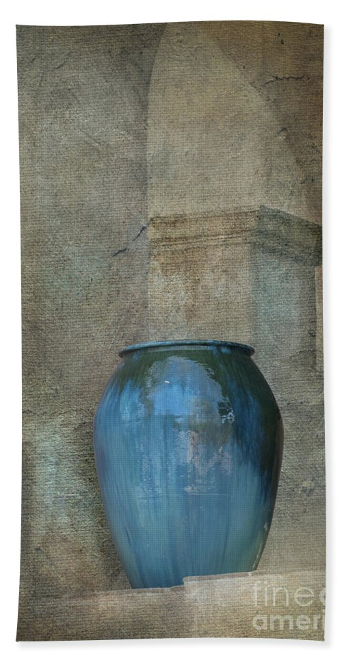 Vase Hand Towel featuring the photograph Pottery And Archways II by Sandra Bronstein