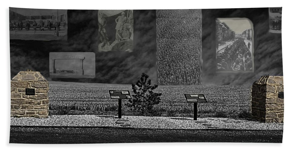 Prisoner Of War Camp Hand Towel featuring the photograph P.o.w. Camp 202 by Jon Burch Photography