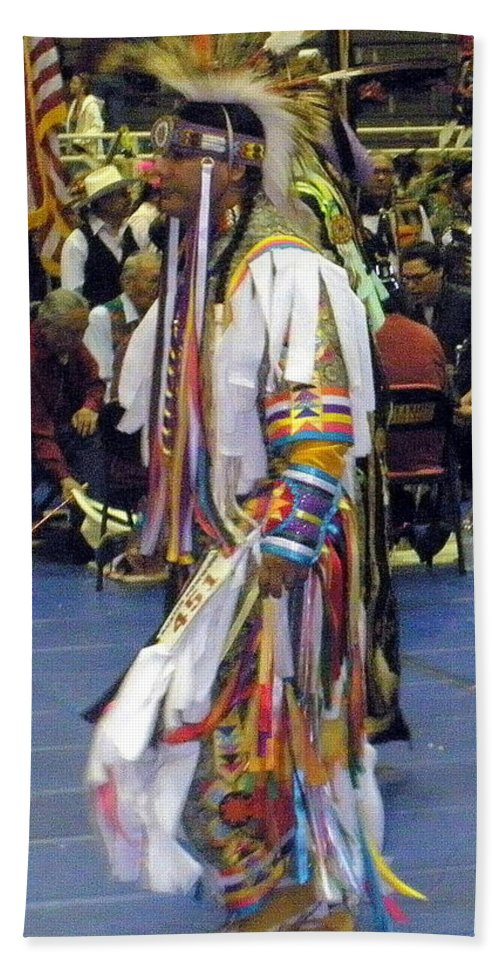 People Hand Towel featuring the photograph Pow Wow Dancer by Glenn Aker