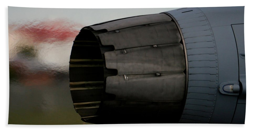 Saab Jas 39 Gripen Bath Sheet featuring the photograph Power II by Paul Job