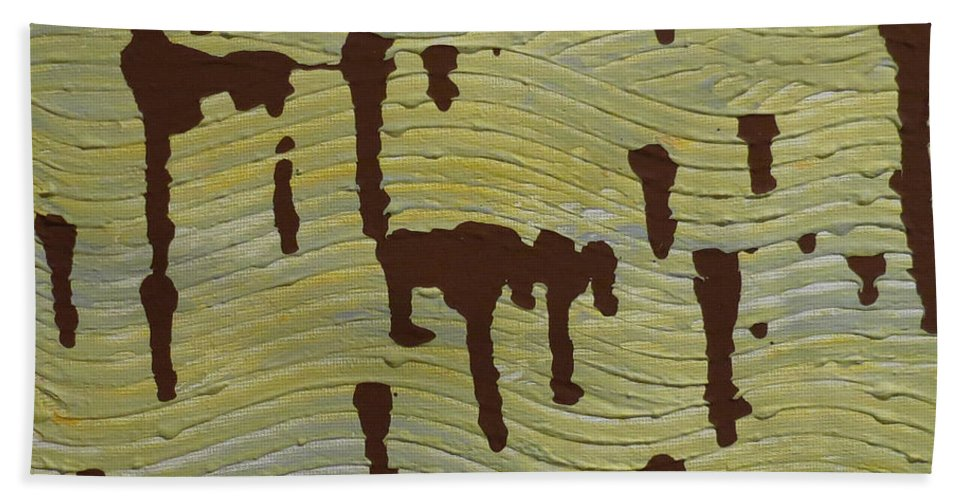 Powerful Wind Hand Towel featuring the painting Powerful Wind by Elizabeth Harshman