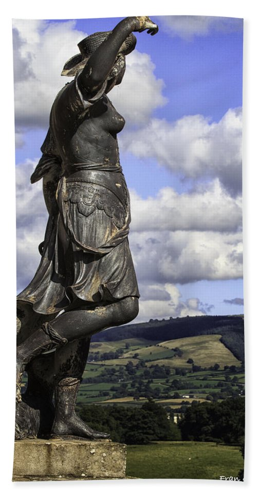 Wales Bath Sheet featuring the photograph Powis Castle Statuary by Fran Gallogly