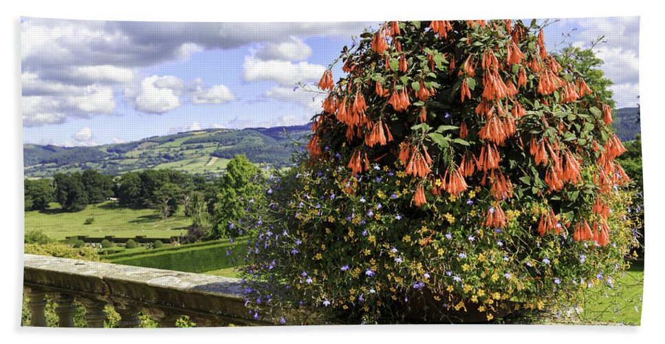 Wales Bath Sheet featuring the photograph Powis Castle Terrace by Fran Gallogly