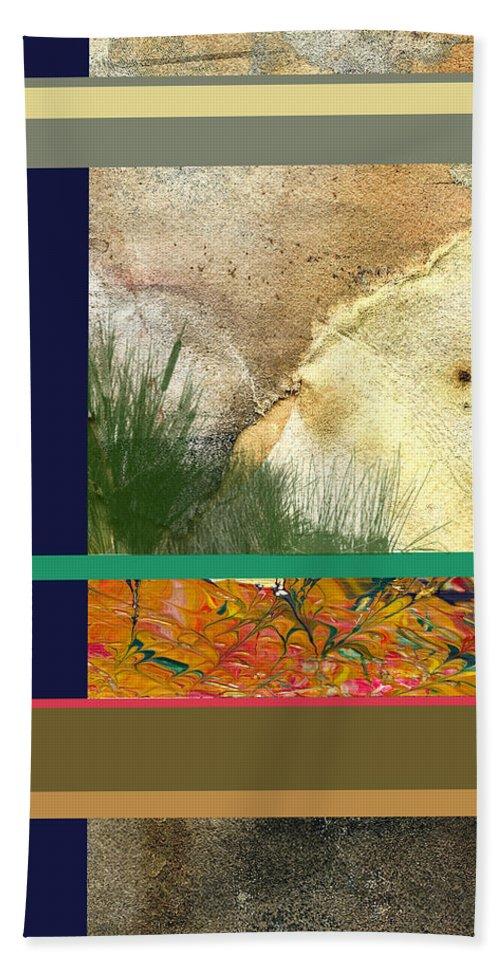 Interior Design Hand Towel featuring the digital art Prairie Grasses Amid The Rocks by Paulette B Wright