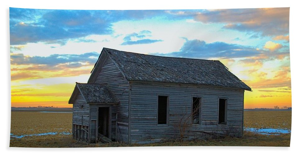 Abandoned Bath Sheet featuring the photograph Prairie School by Bonfire Photography