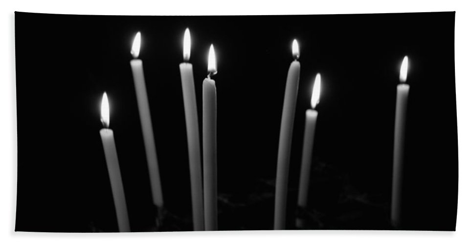 Prayer Candles Hand Towel featuring the photograph Prayers by Eric Tressler