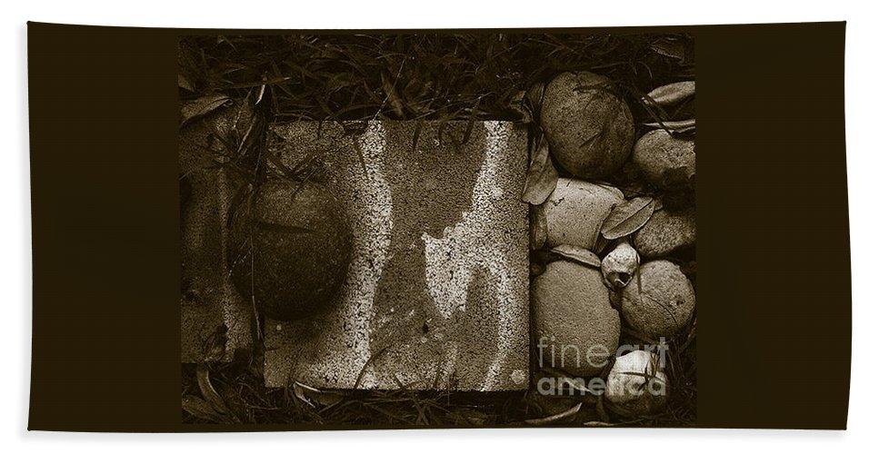 Rocks Bath Sheet featuring the photograph Prayers by Fei A
