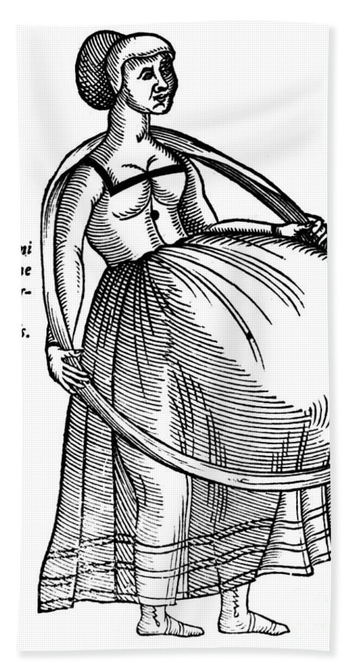 1575 Bath Sheet featuring the photograph Pregnancy, 1575 by Granger