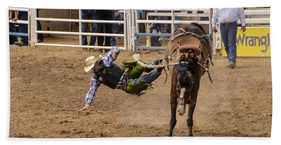 Rodeo Hand Towel featuring the photograph Prescott Rodeo 2014 by Jon Berghoff