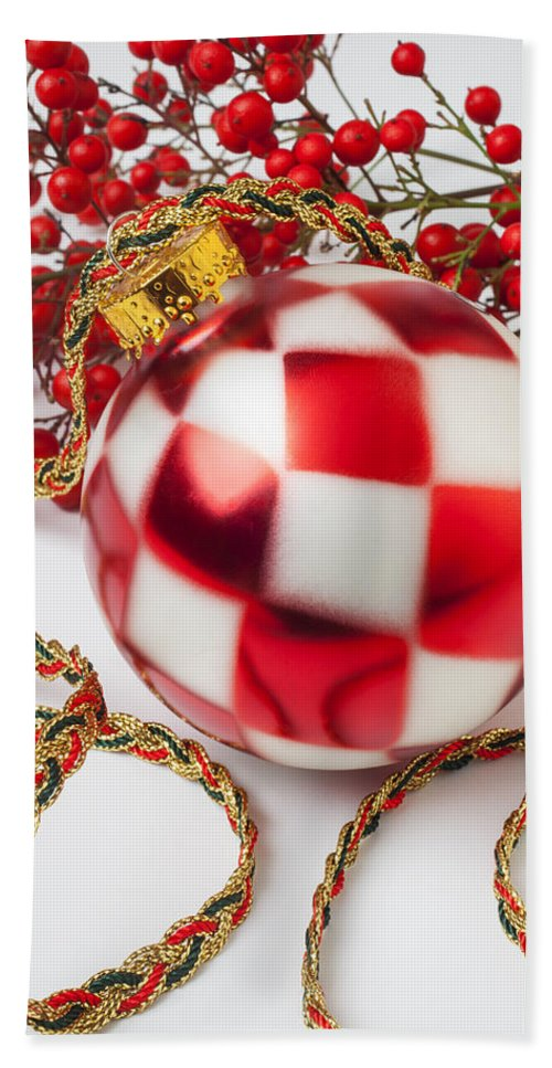 Pretty Hand Towel featuring the photograph Pretty Christmas Ornament by Garry Gay