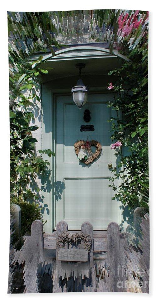 Front Door Hand Towel featuring the photograph Pretty Door In Nether Wallop by Terri Waters