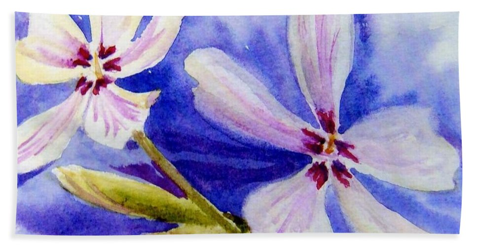 Floral Bath Sheet featuring the painting Pretty Flowers by Katherine Berlin