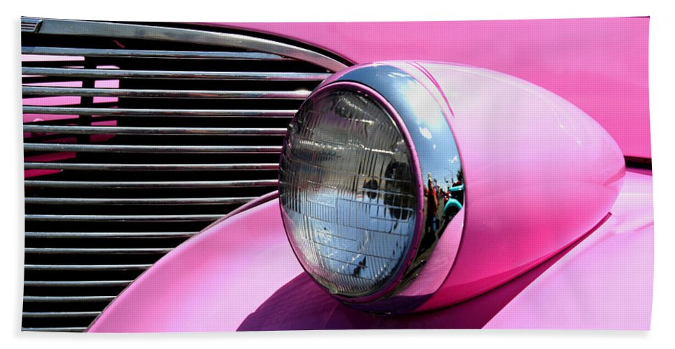 Hot Rod Hand Towel featuring the photograph Pretty In Pink by Joe Kozlowski