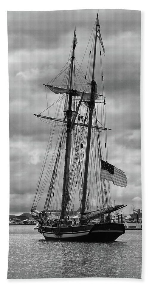 Boat Bath Sheet featuring the photograph Pride Of Baltimore by Guy Whiteley
