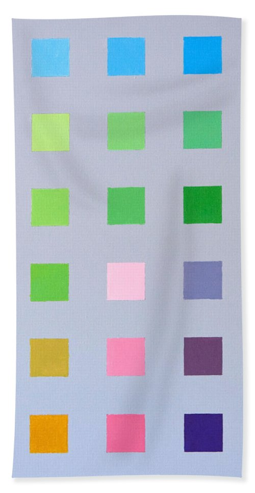 Geometric Bath Sheet featuring the painting Primary To Tertiary by Thomas Gronowski