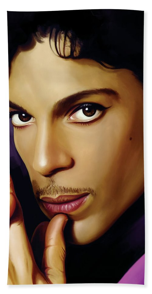 Prince Paintings Bath Sheet featuring the painting Prince Artwork by Sheraz A