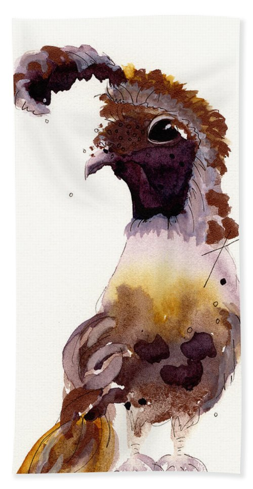 Watercolor Hand Towel featuring the painting Prince by Dawn Derman