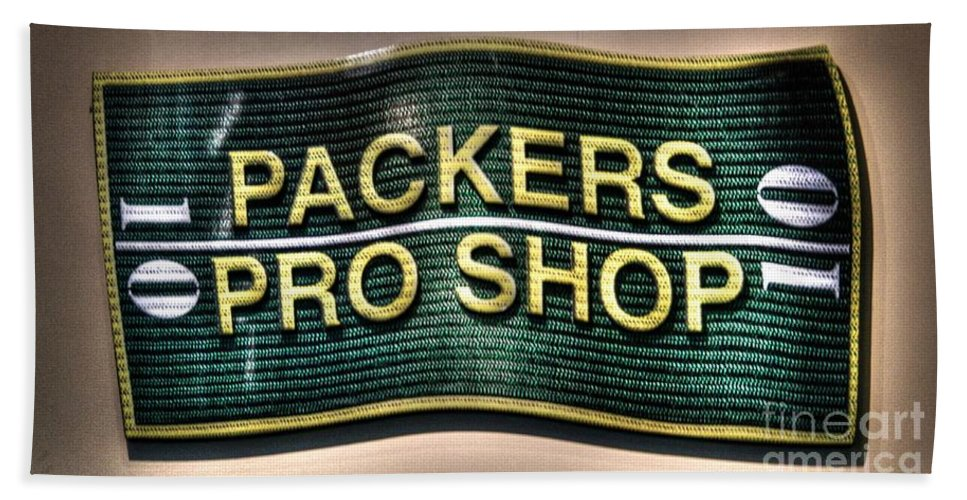 Lambeau Field Hand Towel featuring the photograph Pro Shop Poster by Tommy Anderson