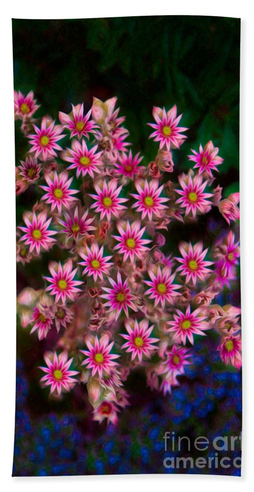 16x9 Bath Sheet featuring the photograph Promising Pink Petals Abstract Garden Art By Omaste Witkowski by Omaste Witkowski