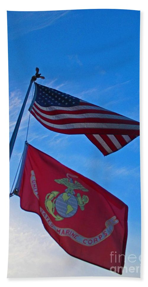 Flag Hand Towel featuring the photograph Proud by Stephanie Hanson