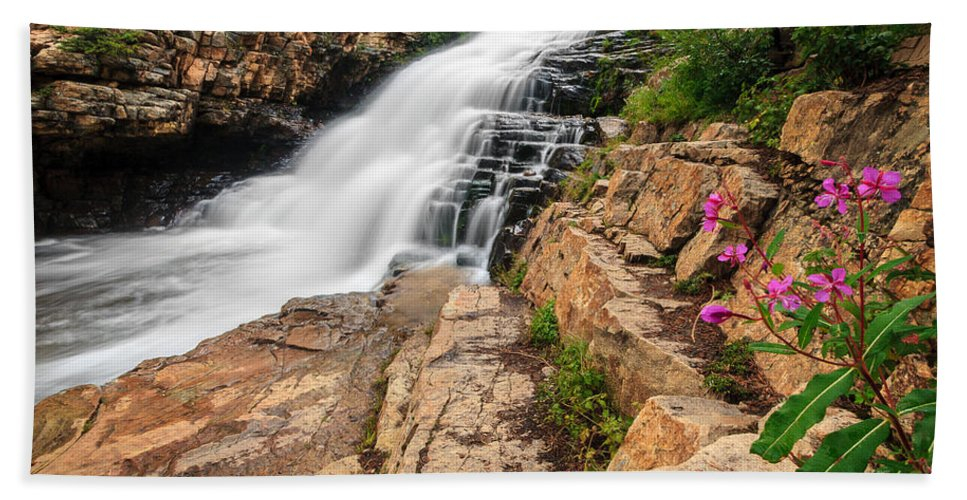 Gigimarie Bath Sheet featuring the photograph Provo River Falls 3 by Gina Herbert