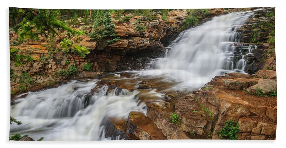 Gigimarie Bath Sheet featuring the photograph Provo River Falls by Gina Herbert