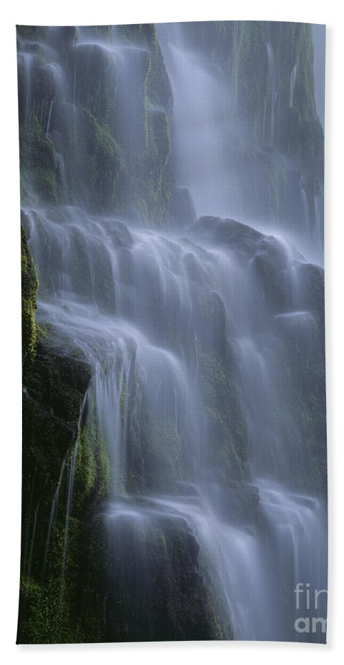 Americana Hand Towel featuring the photograph Proxy Falls by Jim Corwin