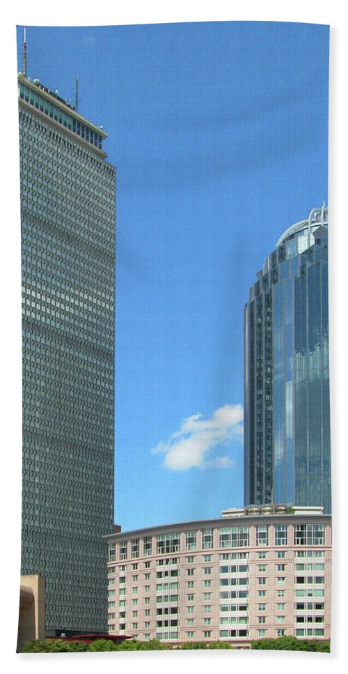 Architecture Hand Towel featuring the photograph Prudential Building 2960 by Guy Whiteley