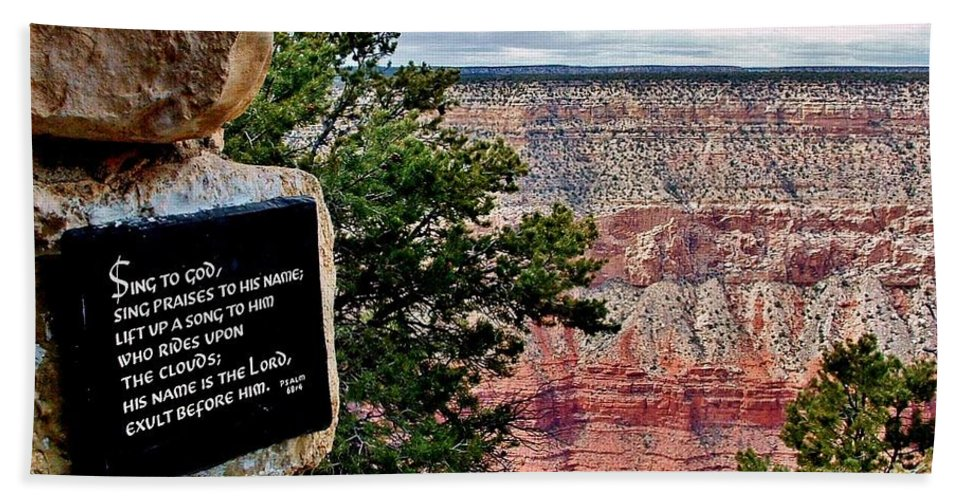 Grand Canyon Bath Sheet featuring the photograph Psalm 68 - Grand Canyon by Marilyn Smith